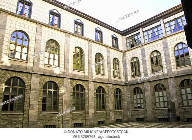 Sondrio, Lombardy, Northern Italy, Palazzo del Governo (Governament Palace), designed by Giovanni Muzio in 1930