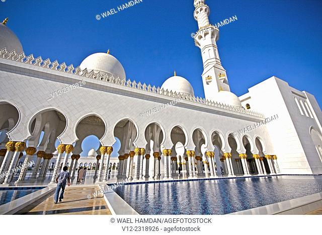 Sheikh Zayed bin Sultan al-Nahyan Mosque, Abu Dhabi, United Arab Emirates New Image Data
