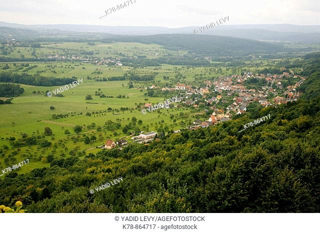 Sep 2008 - View over the Valley from Haut Barr Castle, Saverne, Alsace, France