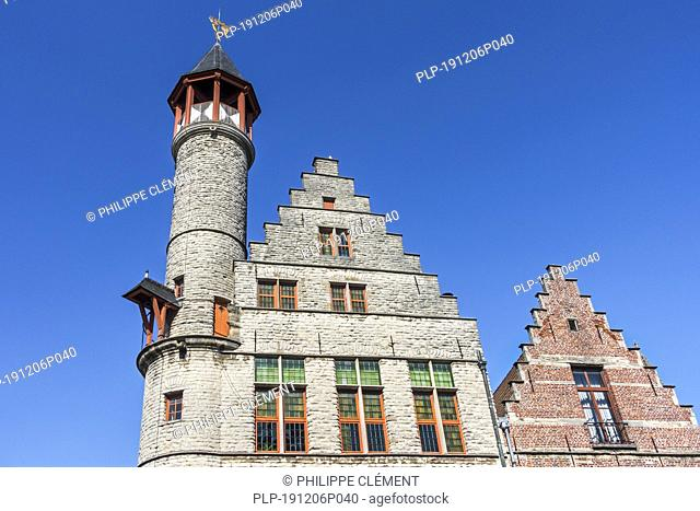 Toreken / Small Tower, 15th century guild house / guildhall on the Vrijdagmarkt / Friday Market in the city Ghent / Gent, East Flanders, Belgium