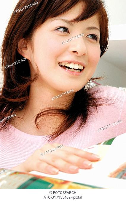 Smiling woman, Close-up