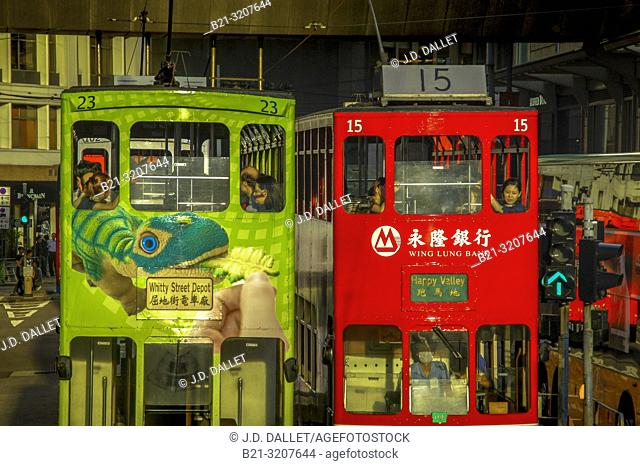 Double Decker buses at Hong Kong. China