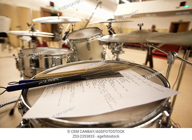Drum kit, Istanbul, Turkey, Europe