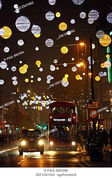 Switching on Oxford Street Christmas lights and Xmas decorations in London but some failed to switch on immediately and only came on later