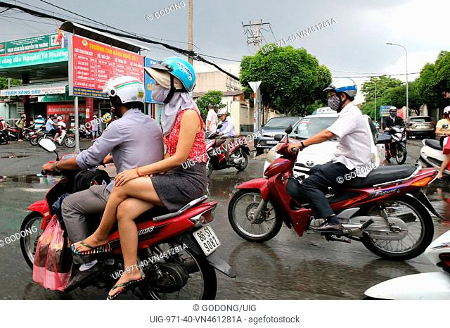 Motor Scooters on Saigon Street