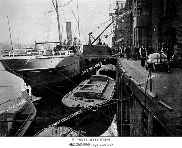 Cotton's Wharf, Tooley Street, London, c1900 (1901). Artist: Unknown