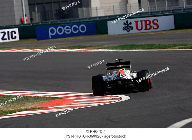 Qualifying, Vitantonio Liuzzi ITA, HRT Formula One Team, F1, Korean Grand Prix, Yeongam, Korean