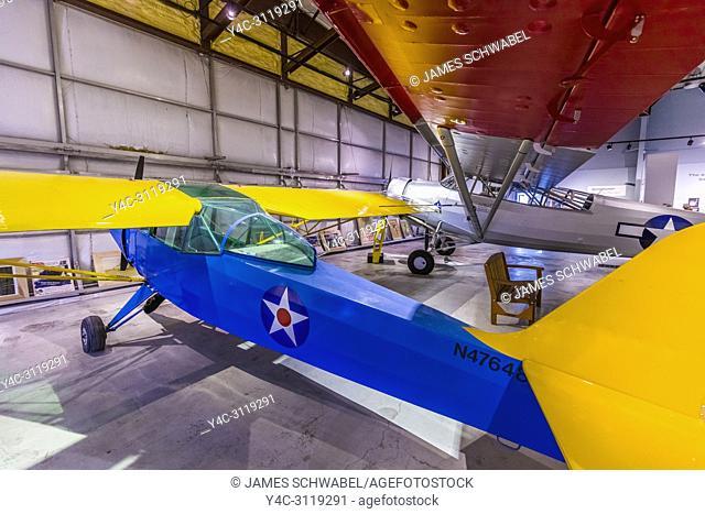 Interior views of the Alaska Aviation Museum located on Lake Hood in Anchorage Alaska