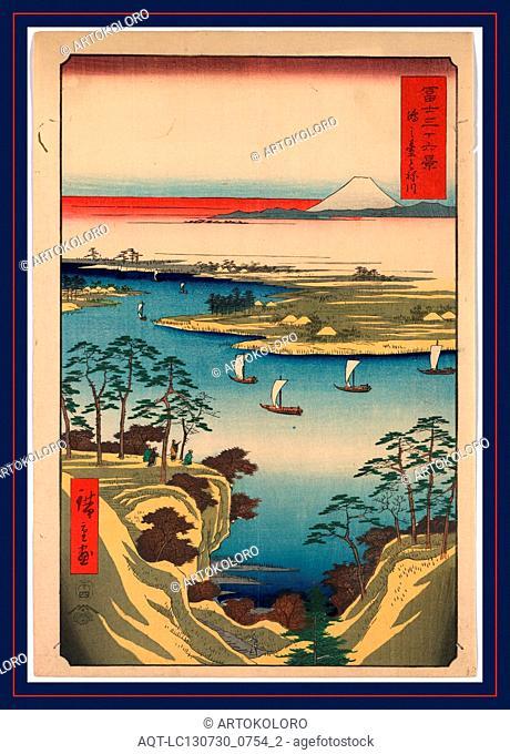 Konodai tonegawa, Ando, Hiroshige, 1797-1858
