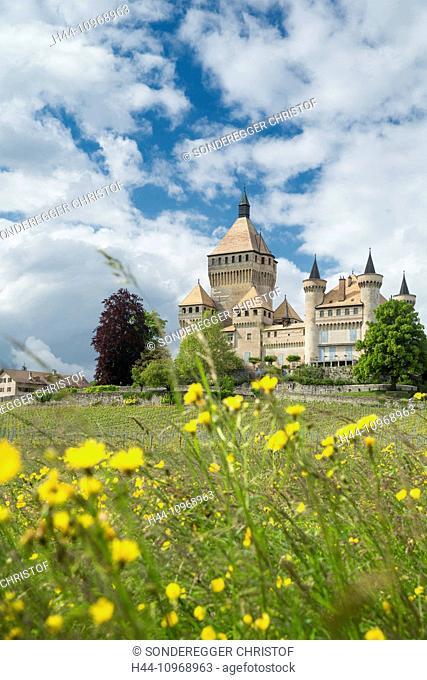 La Cote, Vufflens-le-Chateau VD, canton, VD, Vaud, Western Switerland, Romandie, lake Geneva, castle, Switzerland, Europe