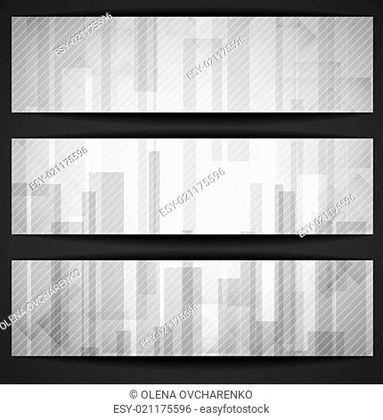 Abstract White Rectangle Shapes Banner