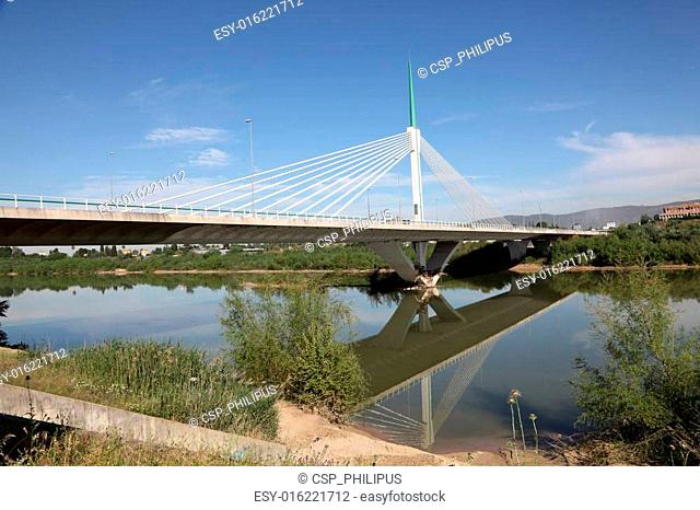 Modern bridge - Puente de Andalucia in Cordoba, Spain