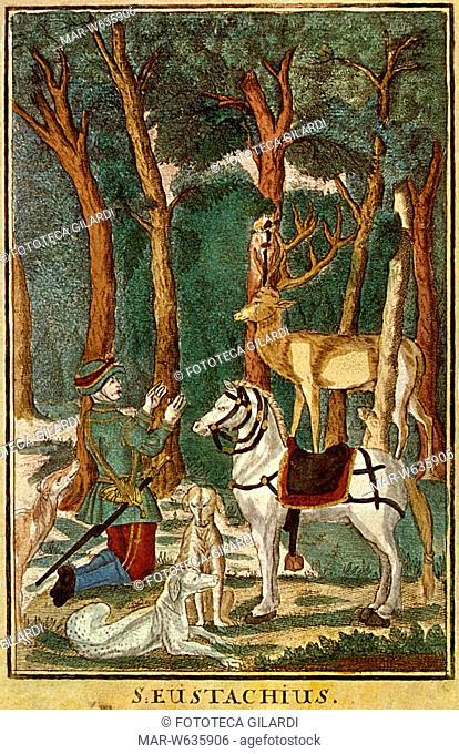 CACCIA - 'Sant'Eustachio, patrono dei cacciatori'. Martire romano cristiano vissuto nel II secolo ai tempi dell'imperatore Adriano (festa 1 novembre) Prima di...