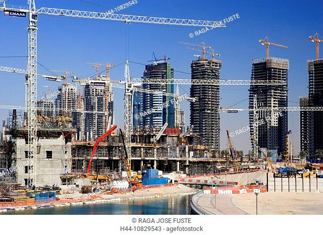 United Arab Emirates, Asia, Middle East, Arabia, East, UAE, Dubai town, city, Sheikh Zayed Road, building project, bui