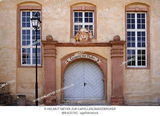 Entrance gates to a building in Querfurt, Saxony-Anhalt, Germany, Europe