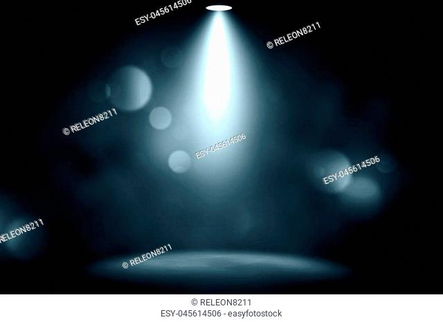 blue spotlight smoke studio entertainment background