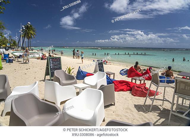 Strandbar in Sainte-Anne, Guadeloupe, Frankreich  