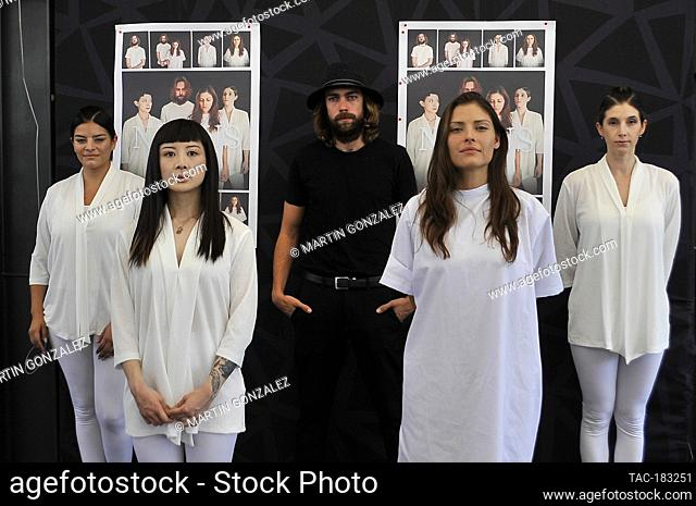 MEXICO CITY, MEXICO - OCTOBER 26: Vita Vargas, Sayaka Yokoyama, Alex Crusa, Carla Hernández, Myriam Behar poses for photos during The Blackboard And Press...