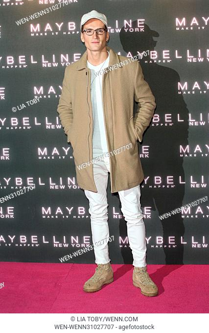 Maybelline Bring on the Night Party held at The Scotch of St James - Arrivals Featuring: Oliver Proudlock Where: London, United Kingdom When: 18 Feb 2017...