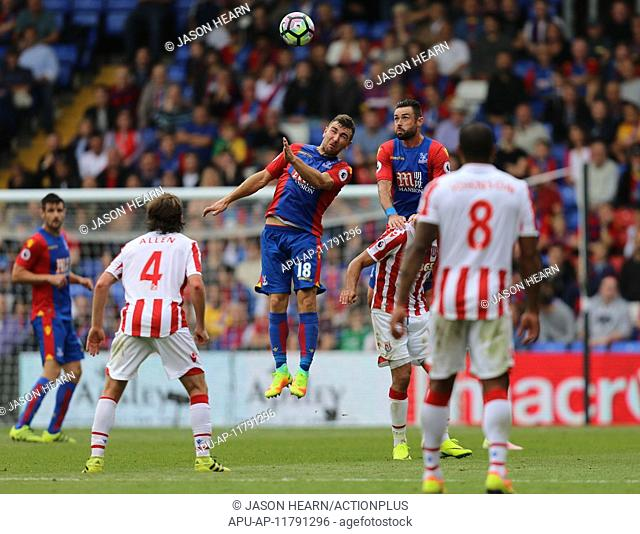 2016 Premier League Football Crystal Palace v Stoke Sep 18th. 18.09.2016. Selhurst Park, London, England. Premier League Football