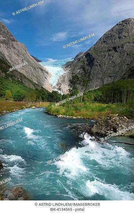 Briksdalsbreen, Briksdal glacier area, Briksdal, Norway