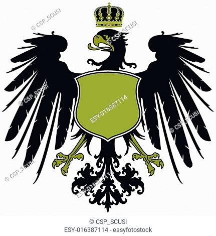 Flying eagle crown Stock Photos and Images | age fotostock