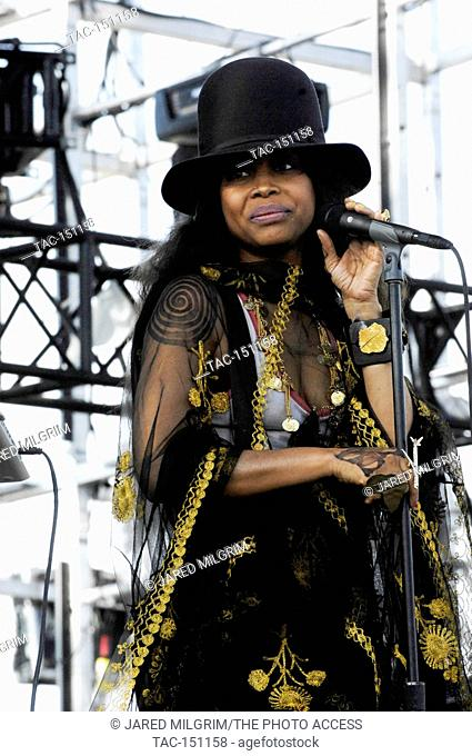Singer Erykah Badu performs at the 2011 Coachella Music Festival on March 16, 2011 in Indio
