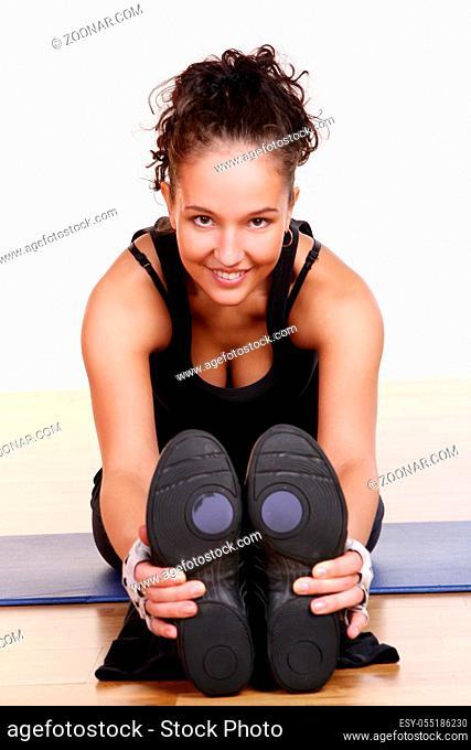 beautiful sexy girl doing fitness