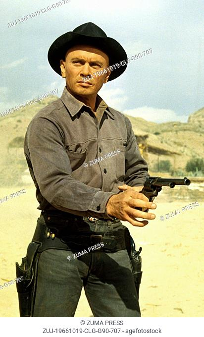 Oct 19, 1966; Madrid, SPAIN; Actor YUL BRYNNER stars as Chris Adams in the Burt Kennedy directed western, 'Return of the Seven