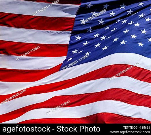 Primer plano de la bandera estadounidense