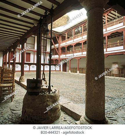 Corral de Comedias (16th century), the only active courtyard theatre in Spain. Almagro. Ciudad Real province. Spain