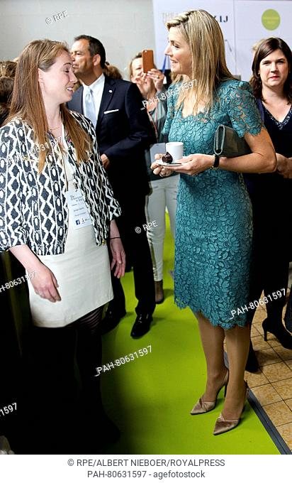 Amsterdam, 23-05-2016 HM Queen Máxima HM Queen Máxima hold the opening speech at The Innovation Summit, where women's entrepreneurship is central at Pakhuis...