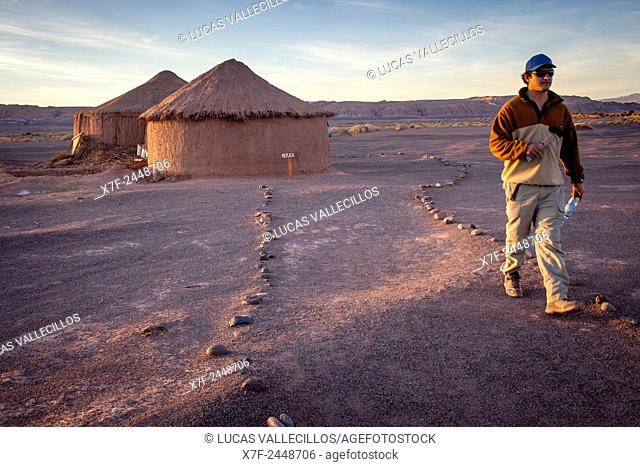 Replica, reconstructed, at the ruins of Tulor, an ancient Atacameños village, San Pedro de Atacama, Atacama Desert, Región de Antofagasta, Chile