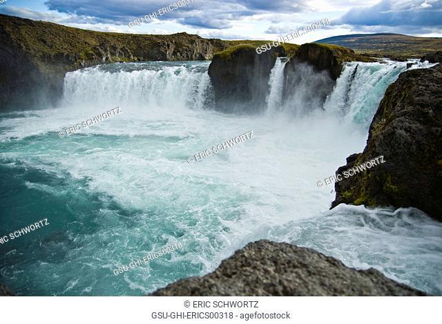 Godafoss, Waterfall of the Gods and Sky, Myvatn, Iceland