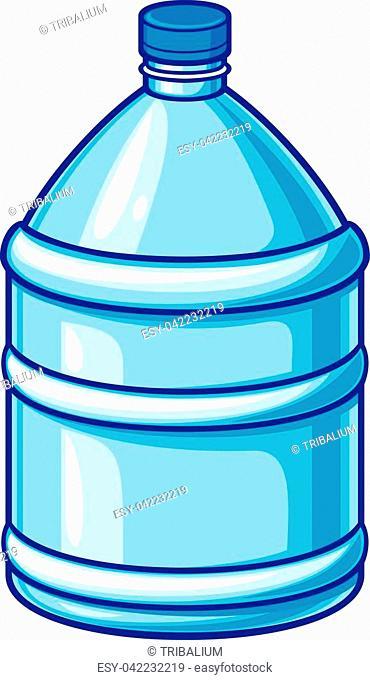 big plastic bottle of water vector illustration