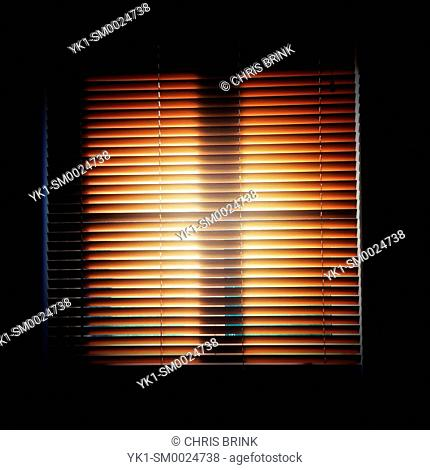 Closed venetian blinds