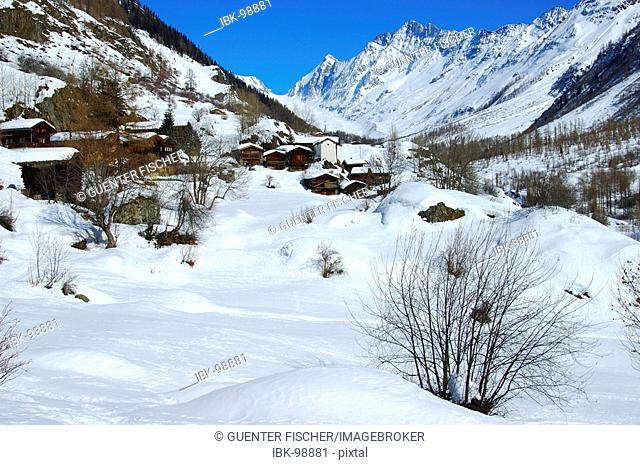 Hamlet Eisten Loetschental Valais Switzerland