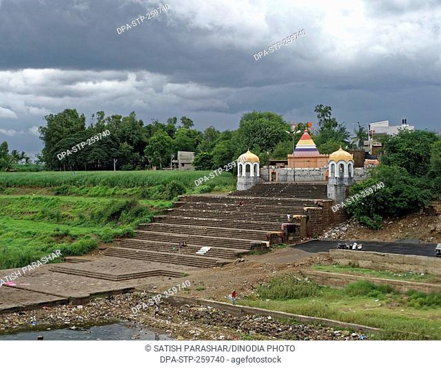 Ghat on Krishna river, miraj, Maharashtra, India, Asia