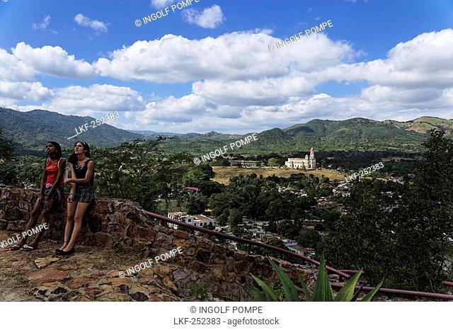 View to Basilica de Nuestra Senora de la Caridad del Cobre, Santiago de Cuba, Santiago de Cuba, Cuba, West Indies