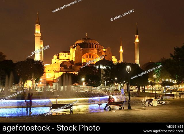 Turkey, Istanbul, View of Sultan Ahmed park