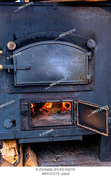 Romantic fireplace firewood