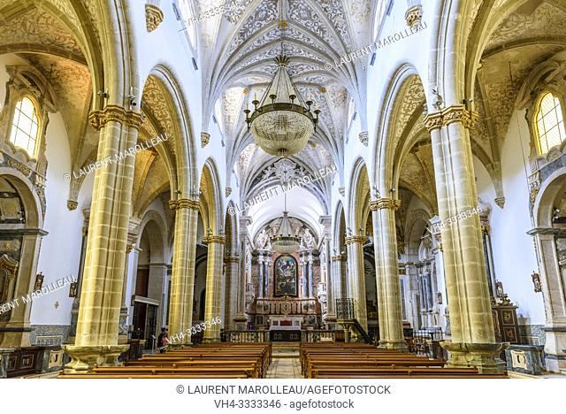 Interior of Our Lady of the Assumption Church in Republic Square of Elvas, Garrison Border Town of Elvas and its Fortifications, Portalegre District