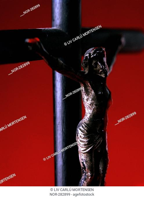 A statuette of Jesus Christ crucified on the cross