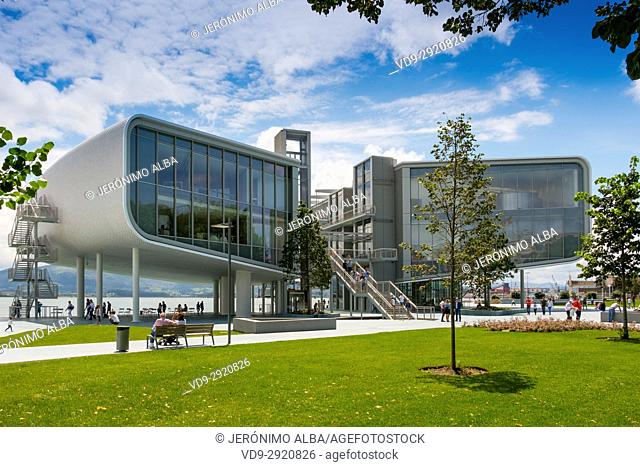 Botin Center Museum Art and Culture. Botin Foundation, architect Renzo Piano. Santander, Cantabrian Sea, Cantabria, Spain, Europe