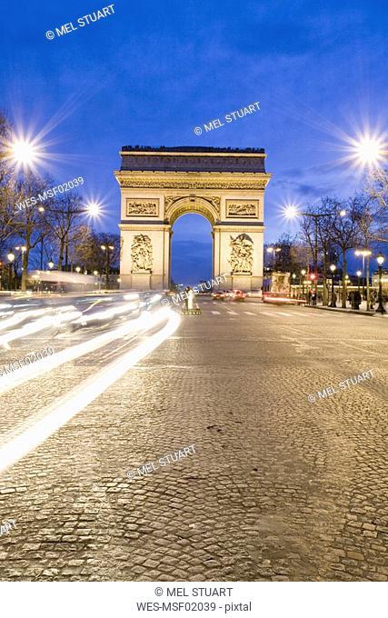 France, Paris, triumphal arch, Charles de Gaulle square