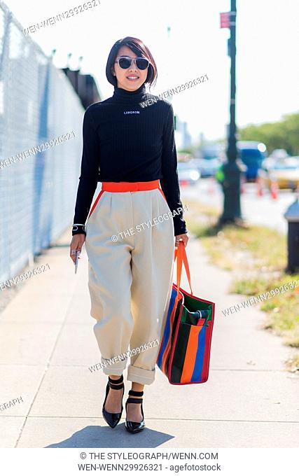 Streetstyle photos during New York Fashion Week SS17 Featuring: Mebmber of Public Where: New York, New York, United States When: 14 Sep 2016 Credit: The...