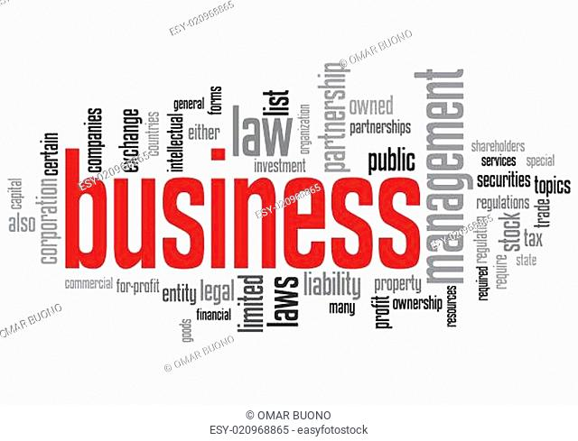 Business Concept Design Word Cloud on White Background
