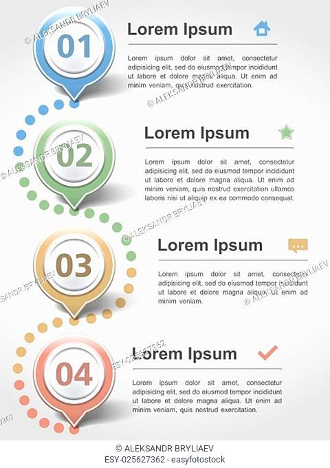 Modern inforgraphics design template