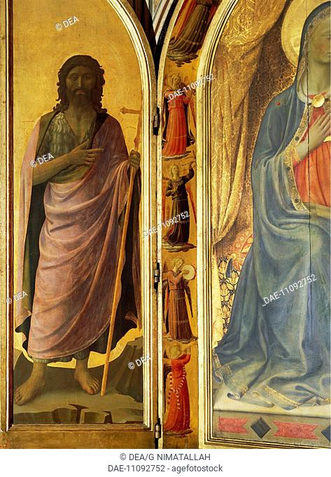 St John the Baptist, detail from the left door of the Tabernacle of the Linaioli (Linemakers), 1432-1433, by Giovanni da Fiesole
