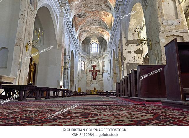 restoration of frescoes in the Assumption church, Traku street, Old Town, Vilnius, Lithuania, Europe